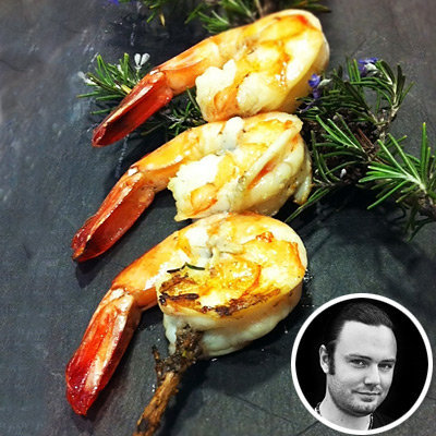 Celebrity Chef David Myers's Rosemary Shrimp Skewers