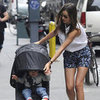 Miranda Kerr and Flynn Bloom Crying Pictures in NYC