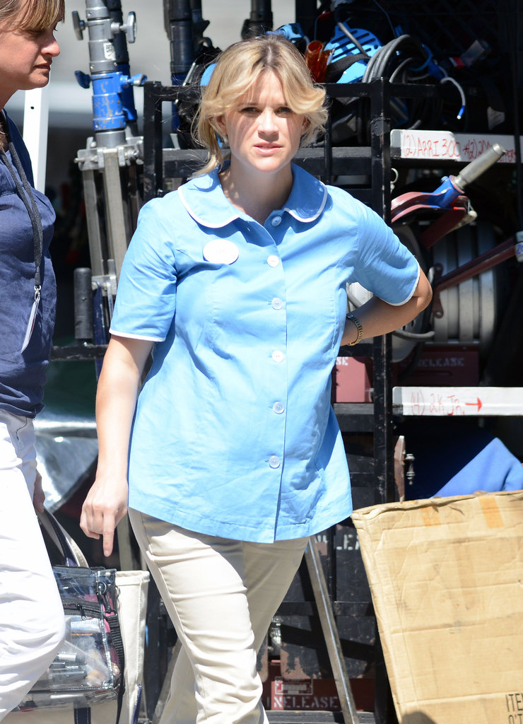 Pregnant Reese Witherspoon was on set for Devil's Knot in Georgia.