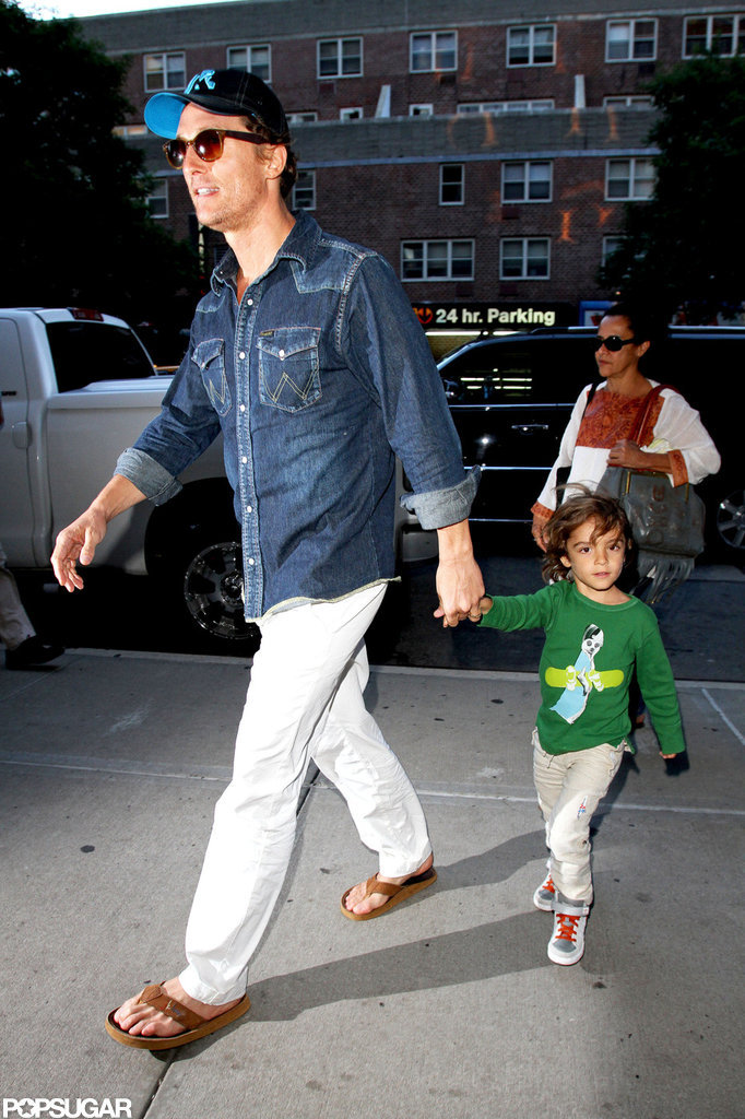 Matthew McConaughey led the way with Levi McConaughey close behind.
