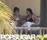 Hilary Duff spent time with her mother and baby Luca in Mexico.