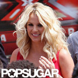 Britney Spears was all smiles upon her arrival.