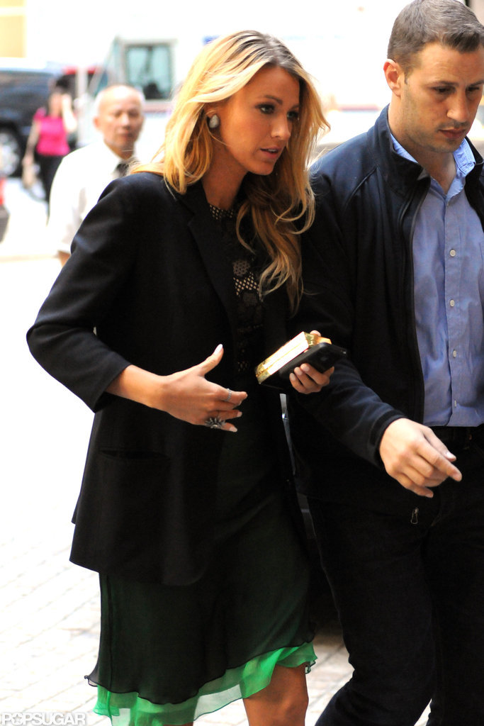 Blake Lively was fashionable in NYC.
