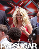 Britney wore her hair down for today's auditions.