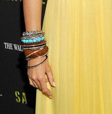 Blake kept it cool with a stack of eclectic bangles.