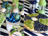 Cake Pops and Fruit Pizza