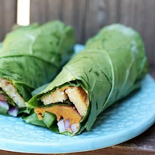 Tempeh and Sweet Potato Collard Wrap Recipe