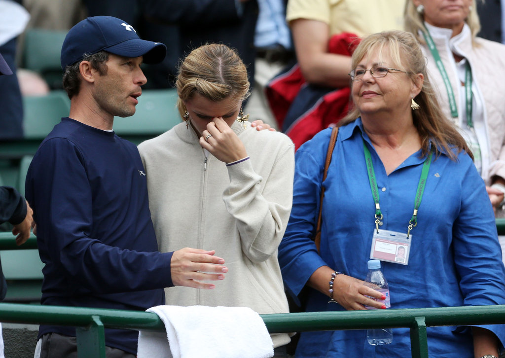 Brooklyn Decker sat in the stands during Wimbledon.