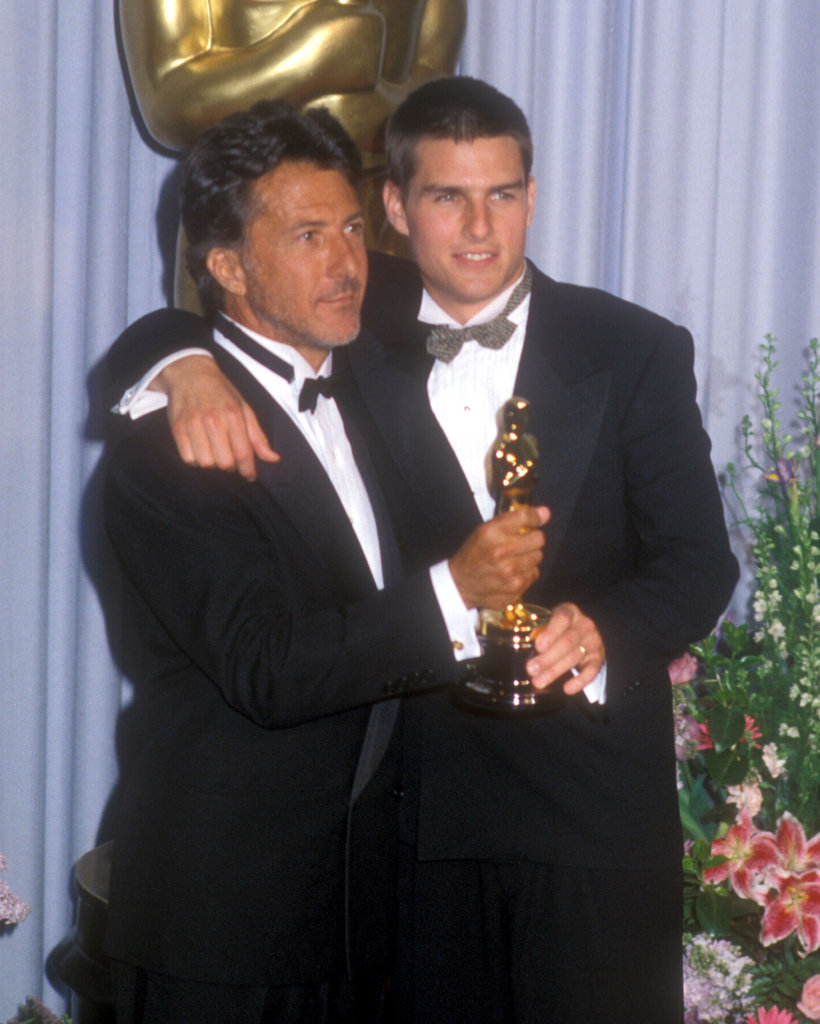 Tom Cruise got together with Dustin Hoffman to celebrate their Oscar in March 1989.