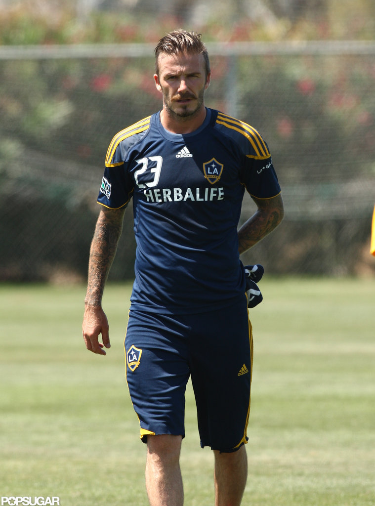 David Beckham on the field.