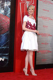 Emma Stone Wows in White at The Amazing Spider-Man Premiere in LA