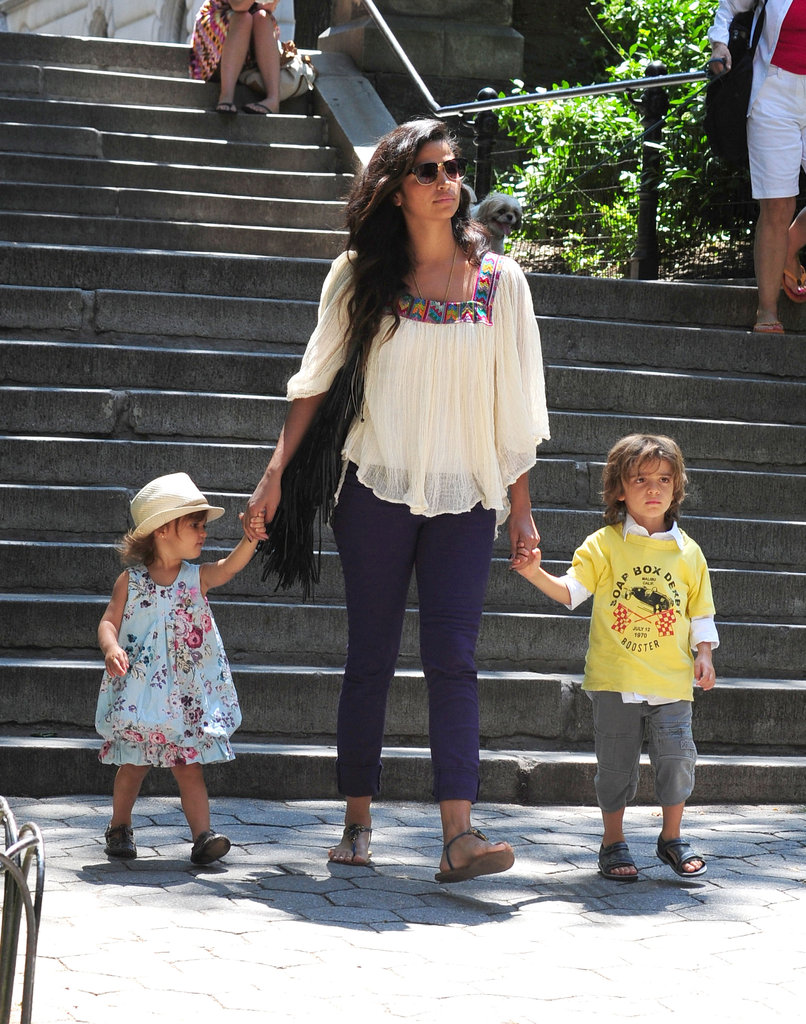 Camila and her kids looked cute as they spent the afternoon together.