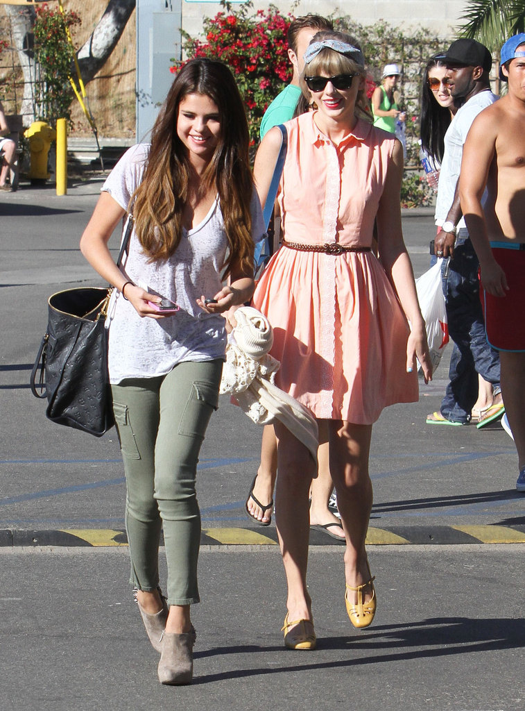 Taylor Swift and Selena Gomez had lunch in Malibu.