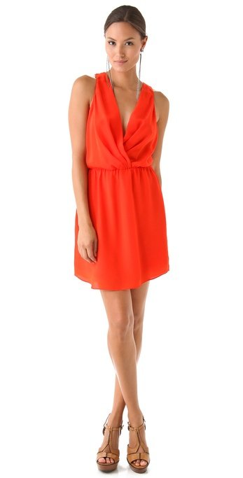 Treat your cocktail attire with the same anti-humidity approach. This orange-hued sheath is draped so that it's just airy enough, but the silhouette is sleek, sexy, and totally evening appropriate. Rory Beca Maya Shirttail Wrap Dress ($207)