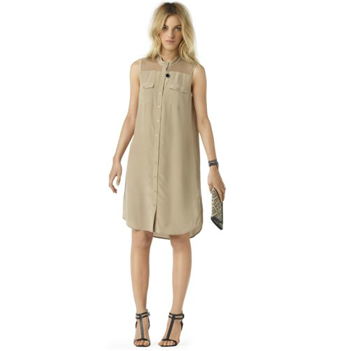 This shirtdress is ideal for warm-weather days, but clearly offers up an overt sartorial appeal. Pair it with sandals and a sleek shoulder bag and off to work you go. Club Monaco Lucas Silk Shirtdress ($199)