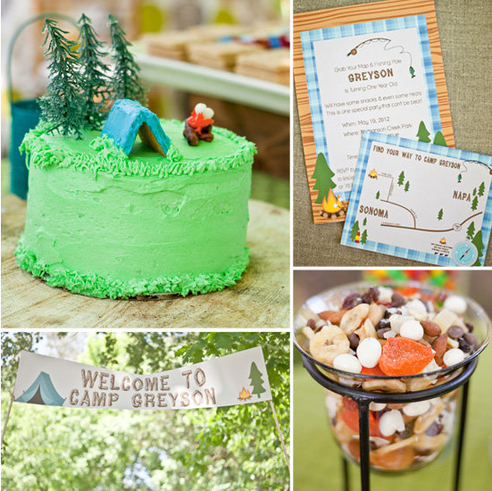 A Camping-Inspired First Birthday Party