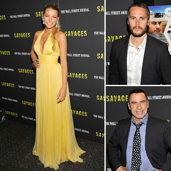 Blake Lively and Taylor Kitsch Take Savages to NYC With Oliver and John