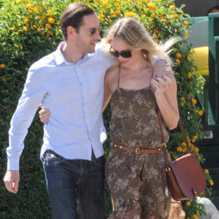 Kate Bosworth Carrying a Brown Saddle Bag
