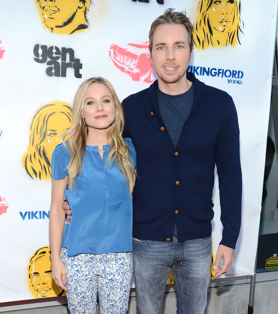 Kristen Bell and Dax Shepard arrived on the red carpet together for the Hit and Run screening in LA.