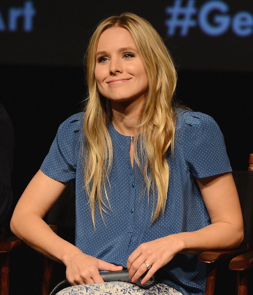 Kristen Bell was all smiles on stage at the Hit and Run screening.