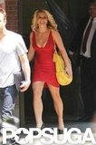 Britney Spears looked hot in red.
