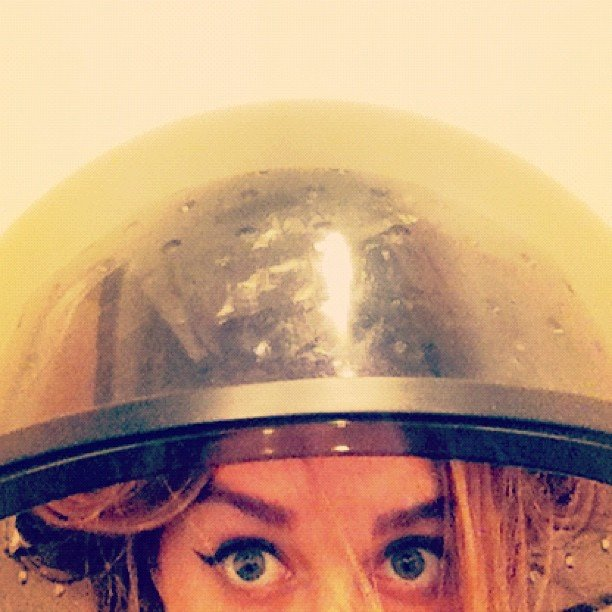 Lauren Conrad snapped photos while waiting for her hair to dry. Source: Instagram user laurenconrad