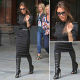 Channel Victoria Beckham's sleek military-inspired style.