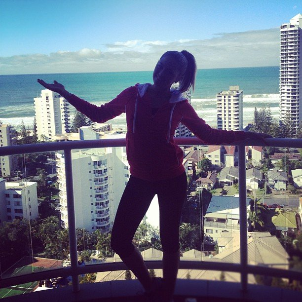 Jesinta Campbell was happy to be in the sunshine on the Gold Coast. Source: Instagram user jesintac