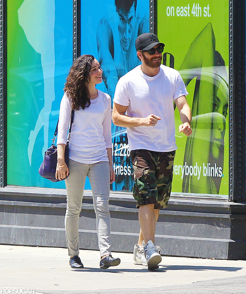 Jake Gyllenhaal Flashes His Sexy Smile at a Female Friend