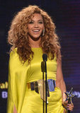 Beyoncé wore Stéphane Rolland as she won the BET Award for best female R&B Artist.