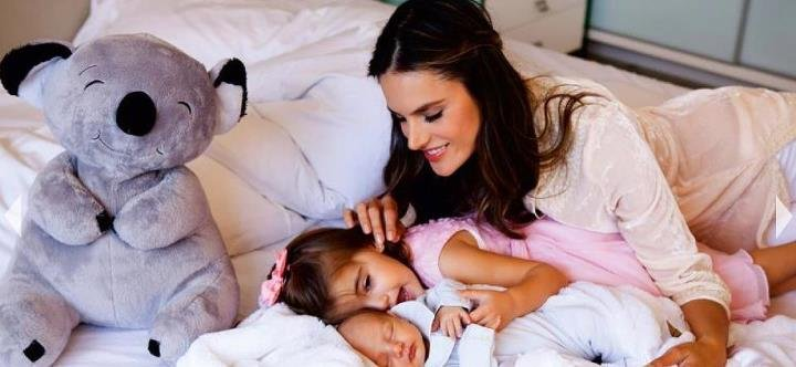 Alessandra Ambrosio shared a candid picture with her new baby boy.