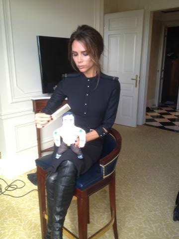 Victoria Beckham got ready for a date with Marc Jacobs...