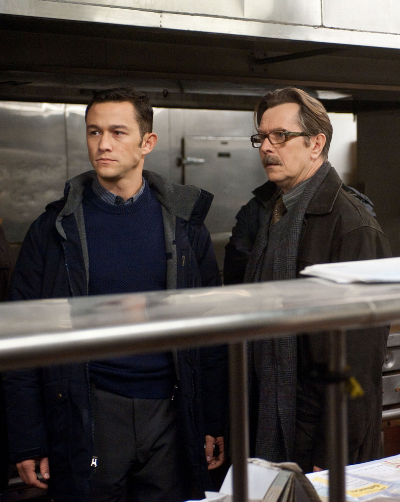 Joseph Gordon-Levitt and Gary Oldman in The Dark Knight Rises.  Photo courtesy of Warner Bros.