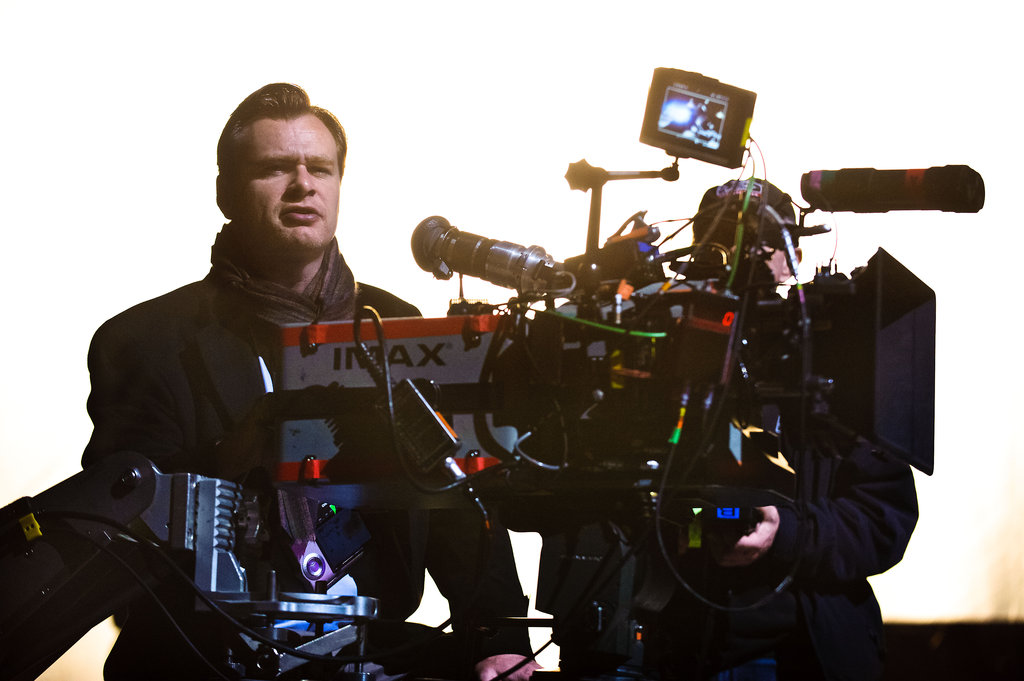 Christopher Nolan on the set of The Dark Knight Rises. Photo courtesy of Warner Bros.