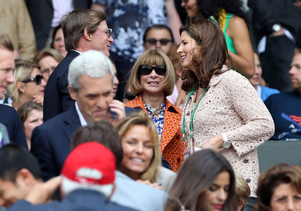 Anna Wintour was spotted in the crowd.
