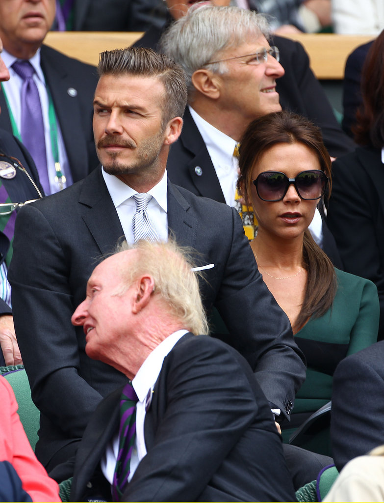 David and Victoria Beckham attended Wimbledon.