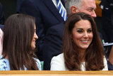Kate and Pippa Middleton were all smiles in the crowd.