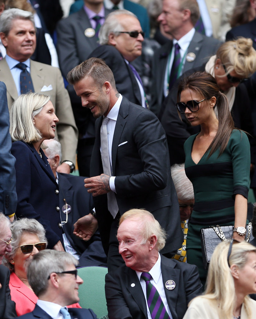 David and Victoria Beckham were spotted in the stands.