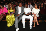 Awesome foursome Beyonce, Jay-Z, Kanye West and Kim Kardashian hung out at the BET Awards on July 1.