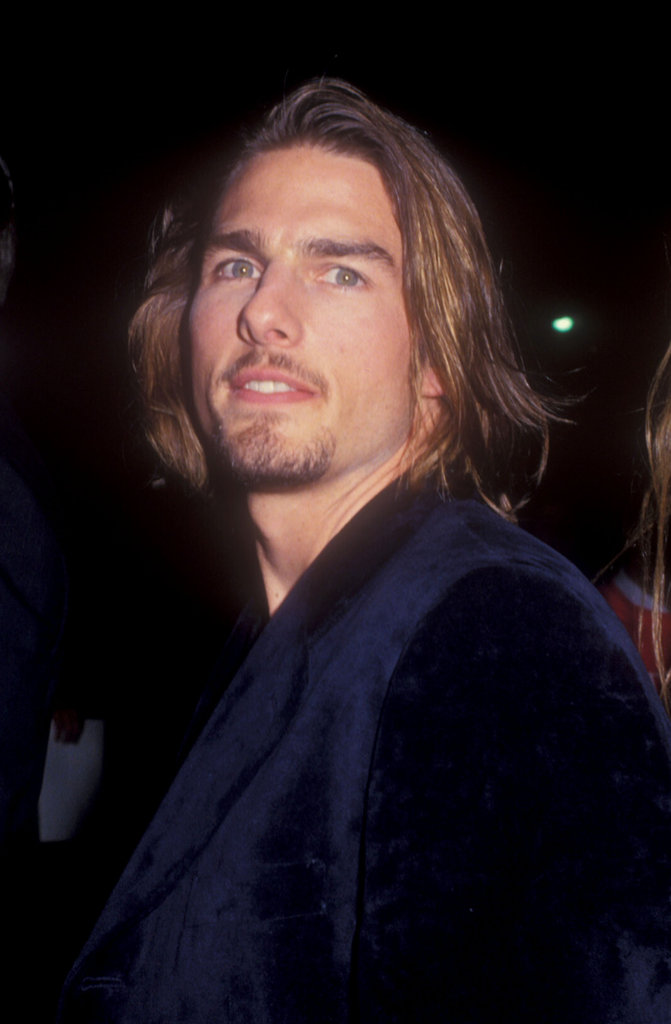 Tom Cruise had some long locks in November 1994 for the Interview With the Vampire premiere in LA.