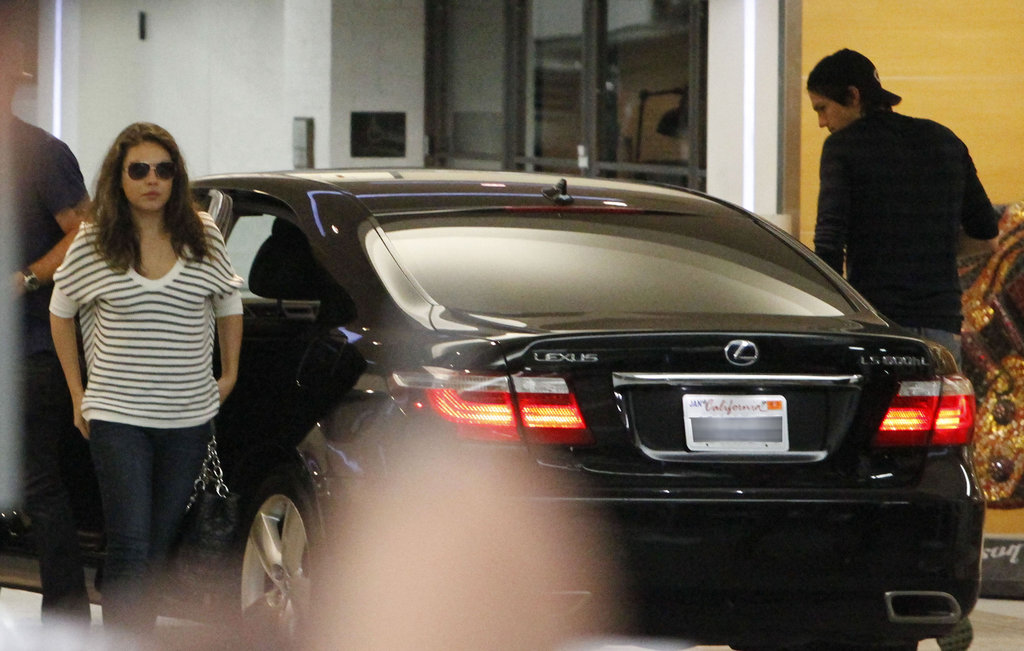 Mila Kunis and Ashton Kutcher arrived at Soho House.