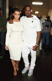 Kim Kardashian and Kanye West were together at the BET Awards in LA.
