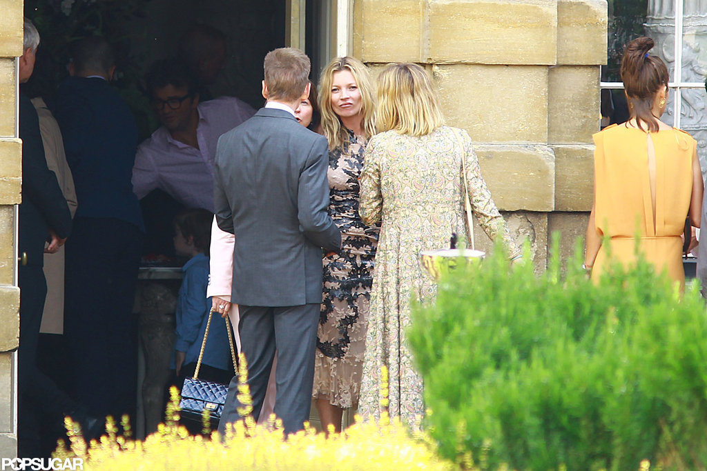 Kate Moss chatted with guests.