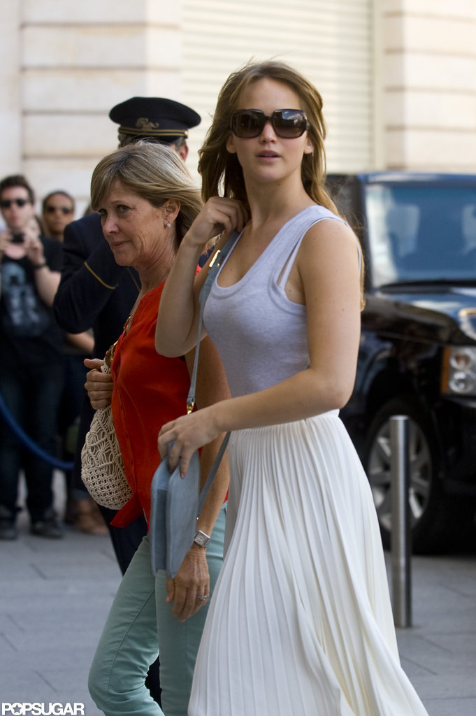 Jennifer Lawrence stepped out with her mom.