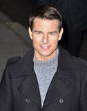 Tom Cruise made an appearance on the Late Show With David Letterman in NYC in December 2011.