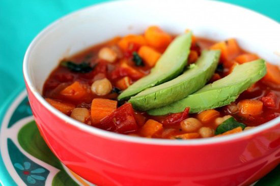... for vegan tomato and chickpea soup in our Healthy Recipe group