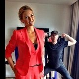 Bar Refaeli got photobombed by her manager. Source: Instagram User therealbarrefaeli