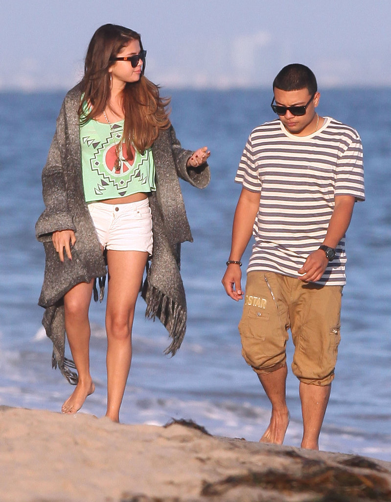 Selena Gomez had fun with friends at Ashley Tisdale's birthday gathering in Malibu.