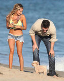 Ashley Tisdale and Scott Speer played with her dog together on the beach in Malibu.