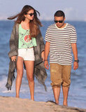 Selena Gomez and friends strolled on the sand in Malibu.